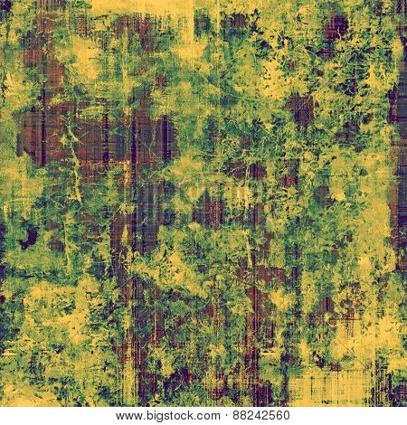 Vintage textured background. With different color patterns: yellow (beige); brown; green; purple (violet)