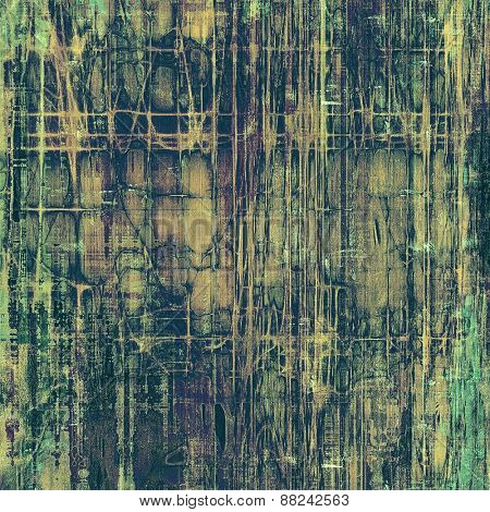 Designed grunge texture or background. With different color patterns: brown; gray; green; purple (violet)