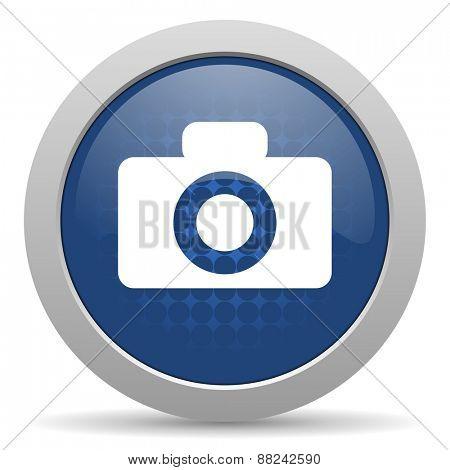 camera blue glossy web icon