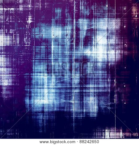 Grunge texture, distressed background. With different color patterns: black; cyan; purple (violet); blue