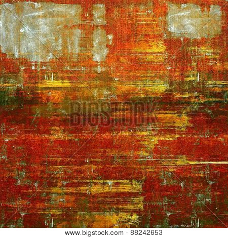 Grunge old texture as abstract background. With different color patterns: yellow (beige); brown; green; red (orange)
