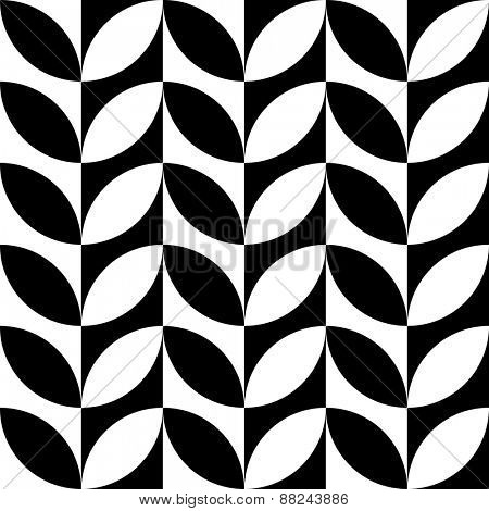 Seamless Floral Pattern. Vector Monochrome Texture