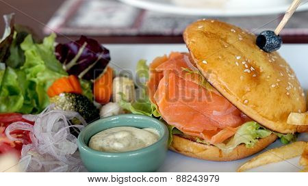 Smoked Salmon Burger