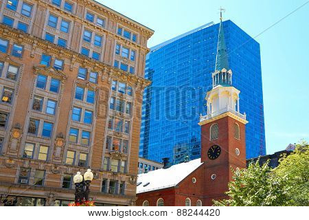 Boston Old South Meeting House historic site in Massachusetts USA