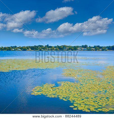 Lake Quannapowitt in Wakefield near Boston Massachusetts