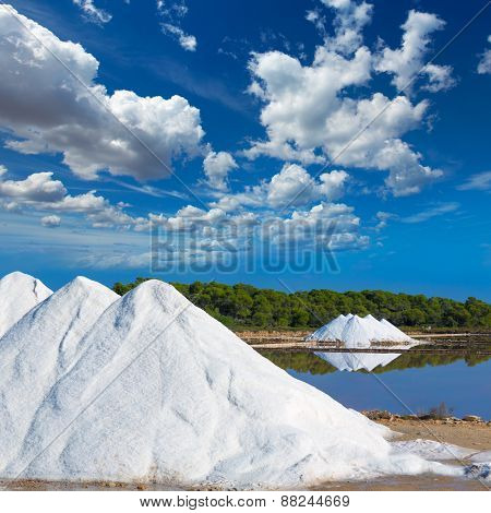 Mallorca Ses Salines Es Trenc Estrenc saltworks in Balearic Islands Spain