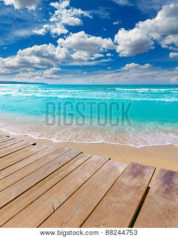 Majorca sArenal arenal beach Platja de Palma in mallorca deck photo mount