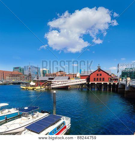 Boston Tea Party in Massachusetts USA