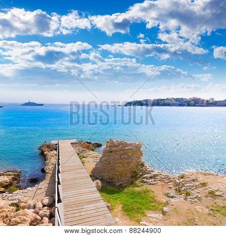 Majorca Platja Palmanova Punta Marroig in Calvia Mallorca at Balearic islands of Spain