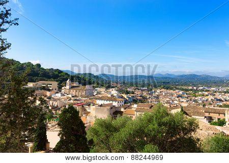 Majorca Capdepera village at  Mallorca Balearic Island Spain