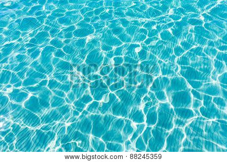 Tropical sea water texture reflections like paradise summer vacation