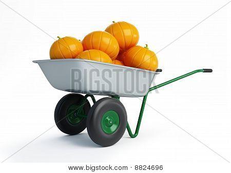 Wheelbarrow Pumpkins