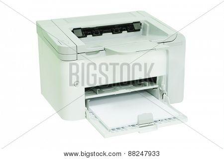 Grey computer printer