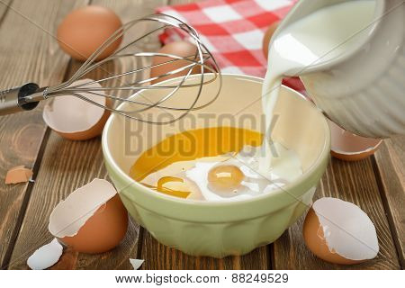 Ingredients For Cooking Omelets