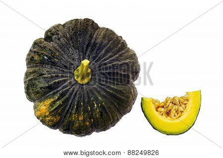 Tropical Pumpkin Isolated On White