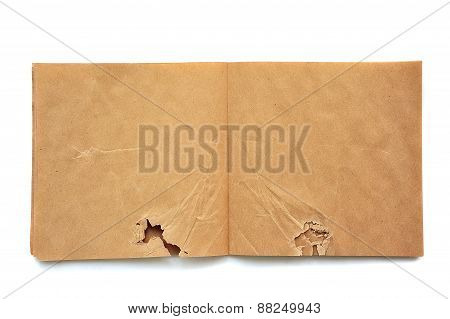 Crumpled Open Brown Skatchbook
