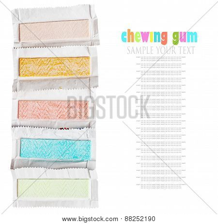 Chewing Gum Different Flavors