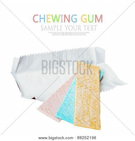 Chewing Gum Different Flavors Isolated