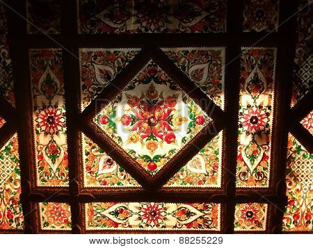 Thai Pattern On The Ceiling