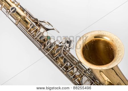 Old saxophone.