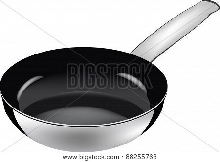 Black frying pan