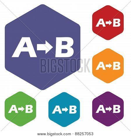 Purpose rhombus icons