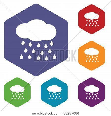 Rain rhombus icons
