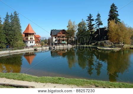 Pond In Szklarska Poreba In Poland