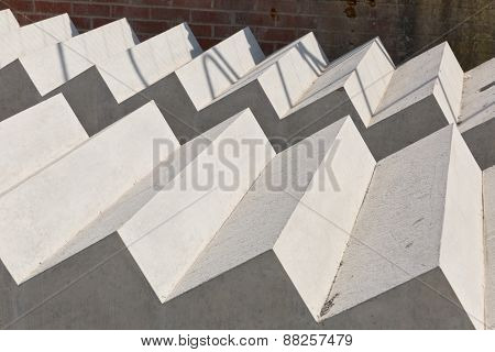 Concrete Stair Slabs on a construction site