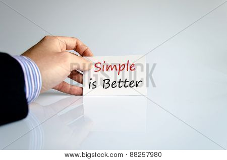 Simple Is Better Concept