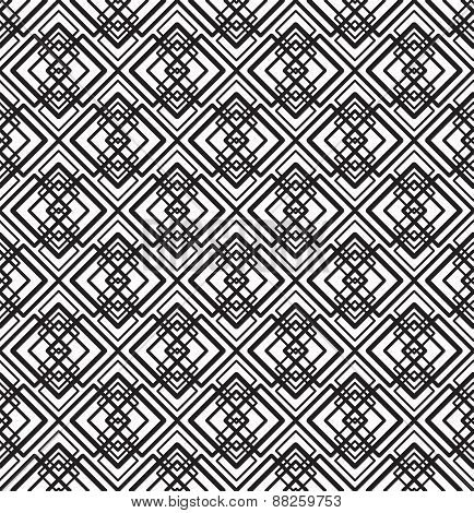 vector abstract seamless geometric black and white pattern