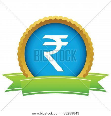 Gold rupee logo