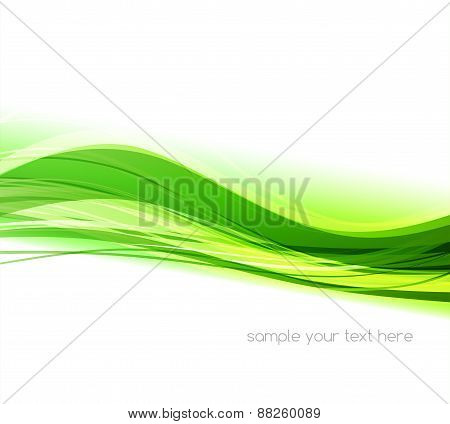 Abstract colorful vector waved background