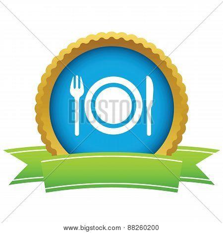 Gold dinner logo