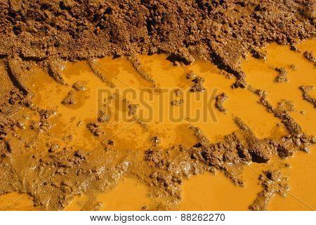 Muddy Tyre Tracks