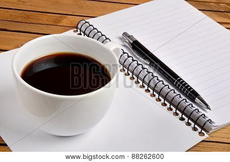 Notepad With Coffee