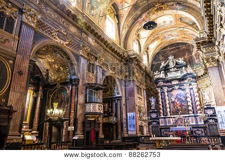The interior of San Francesco da Paola Church in Turin