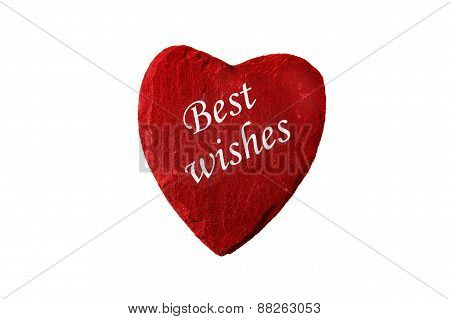Best Wishes Red Heart