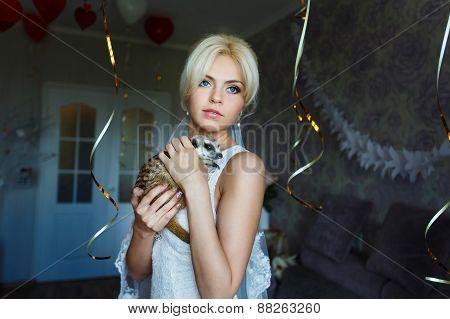 Bride With Meerkat