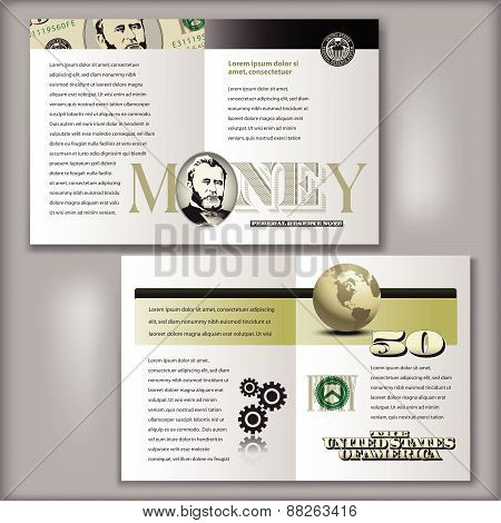 50 Dollar Bill Brochure Template