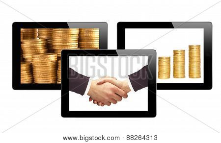Black Touch Screen Tablets And Business Items