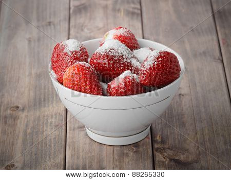 Strawberries Sprinkled With Sugar