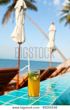 Mojito Cocktail At The Pool