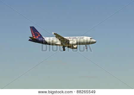 Airbus A320 From The Brussels Airlines Company