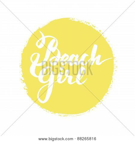 Summer hand drawn round design element