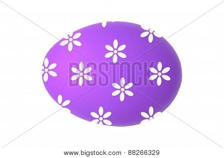 Easter Egg Isolated On White