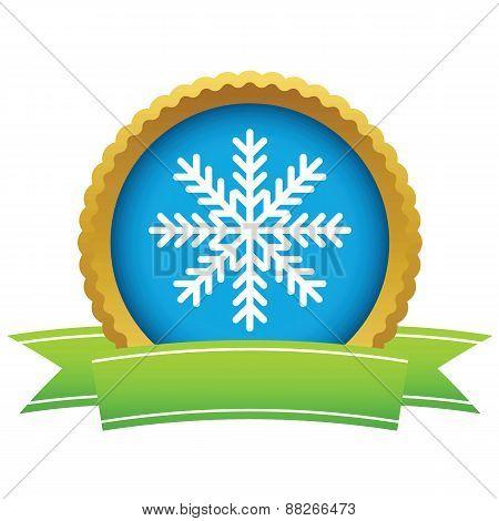Gold snowflake logo