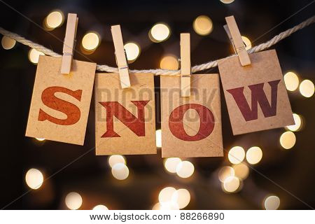 Snow Concept Clipped Cards And Lights