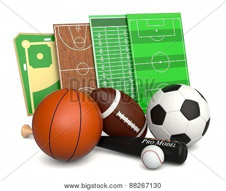 Sport Ball And Fields