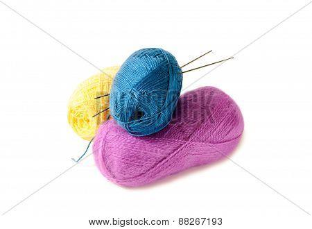 Pyramid Of Yarn For Knitting